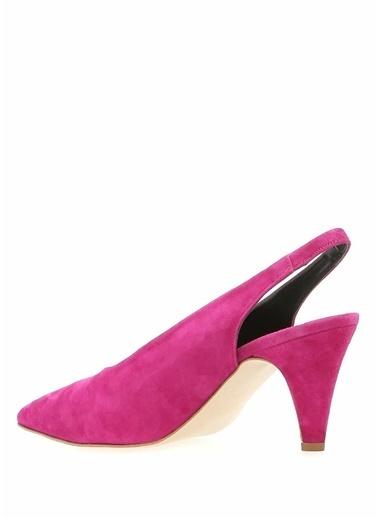 Rebecca Minkoff Hakiki Deri İnce Topuklu Ayakkabı Fuşya